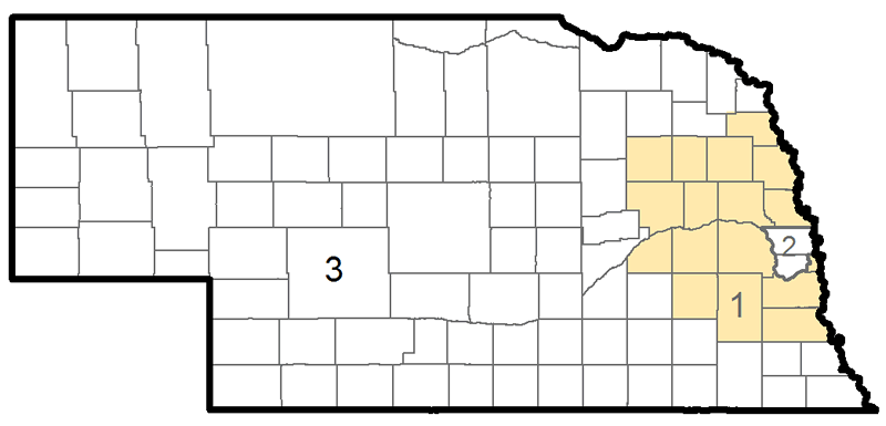 Map of Nebraska's Congressional Districts